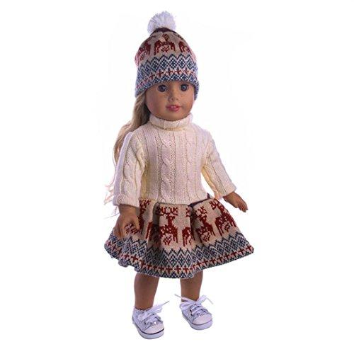 Mädchen Schneemann Outfit - 3pc puppe kleidung , YUYOUG Snuggly