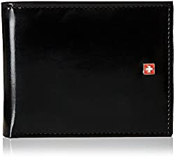Swiss Military Black Leather Wallet (LW-22)