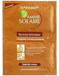 Lot de 10 lingettes Garnier ambre solaire No Trace Bronzeur