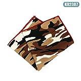 Alexsix Herren Taschentuch, quadratisch, Camouflage, Vintage, Hanky, Party, Hochzeit, Groom Kr2387