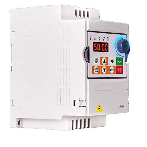 Hyzbpp SVD-ES Einphasen-Frequenzumrichter VFD-Frequenzumrichter Professioneller Frequenzumrichter 2.2KW 3TE 220V / 380V 10A Zur Drehzahlregelung von Spindelmotoren -