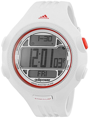 adidas Unisex ADP3132 White and Red Digital Watch
