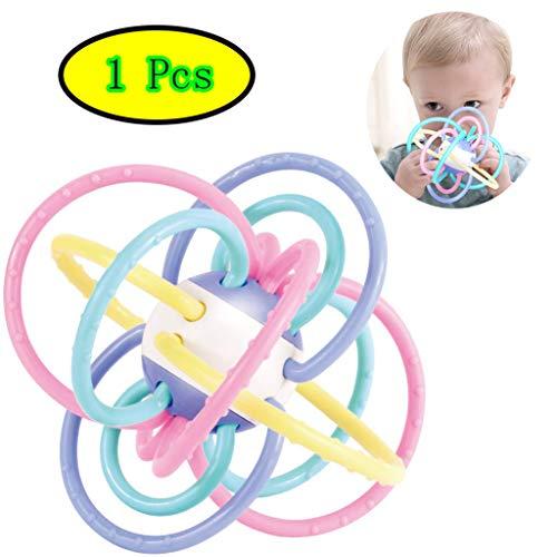 BIEE Baby Safe Spielzeug Sinnlicher Beißring und Rassel Grab Chew and Shake Spielzeug Einfaches...