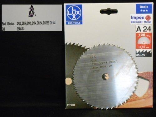 OBI LUX 117206 A24 Basic CV-Kreissägeblatt 125 x 12,75 mm, 80 Z