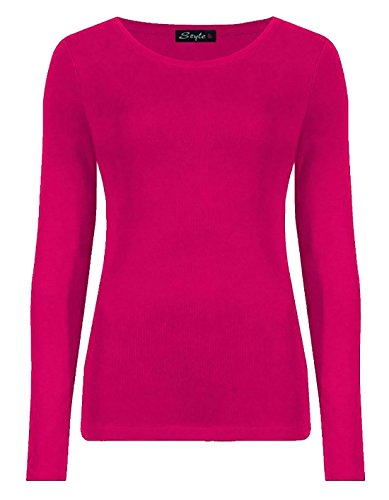 Ladies Long Sleeve T-Shirt Top Womens Size 8 - 14