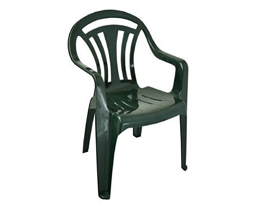 Low Back Plastic Garden Chair - Colour Green