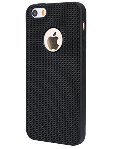 Wow Imagine Heat Dissipation Hollow Thin Soft Tpu Back Case Cover For Apple Iphone 5 / 5S / 5 Se - Black