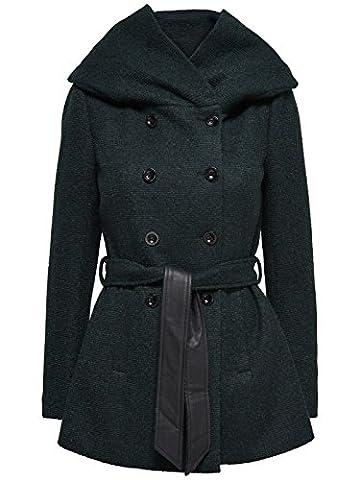 Only Damen Mantel onlLisa HS Short Wool Jacke 15136119, Größe:S,