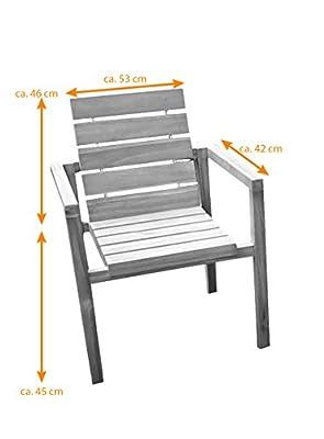 SAM® Teak-Holz Gartenstuhl, massive Sitzmöglichkeit ideal für Garten Terrasse Balkon oder Wintergarten [521222] von SAM® - Gartenmöbel von Du und Dein Garten
