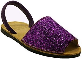 15090G - Sandalia ibicenca glitter viola