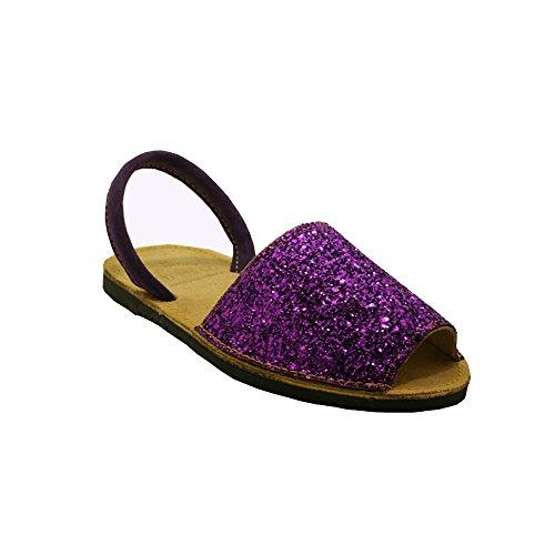 15090G - Sandalia ibicenca Glitter Viola 36