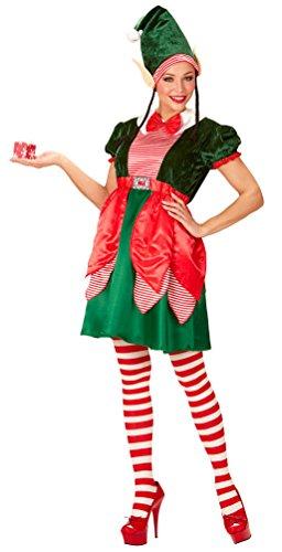 Karneval Klamotten Weihnachtself Weihnachtswichtel Weihnachtshelfer Kostüm Damen Weihnachtselfen Damen-Kostüm Größe 38/40 (Weihnachtswichtel-kostüm)
