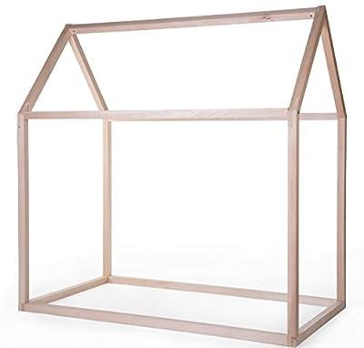 Estructura cama Casa 70x140 cm (sin pintura) CHILDHOME