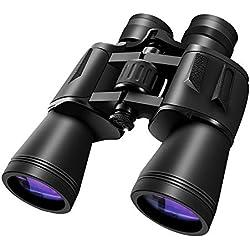 Prismáticos 10 × 50/20 × 50 HD, Plegable Binoculares Recubiertos FMC, BAK4 Prism Visión Nocturna, For Ver La Luna/Ver Deportes/Conciertos/Turismo, Etc. (Size : 10×50)