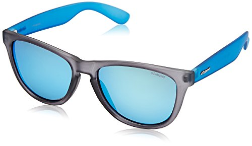 Polaroid Mirrored Wayfarer Women's Sunglasses - (P8443 Y4T 55JY|55|Blue Color) image