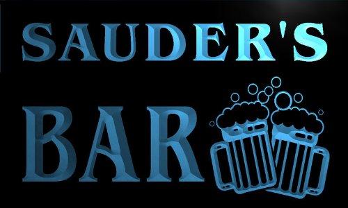 w011460-b-sauder-name-home-bar-pub-beer-mugs-cheers-neon-light-sign