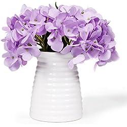 Flores artificiales de hortensia