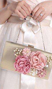 TOOKY , Damen Rucksackhandtasche Gold