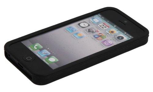 Luxburg® In-Colour Design Schutzhülle für Apple iPhone 5S / 5 in Farbe Türkis Blau / Hellblau Hülle Case aus Silikon Schwarz