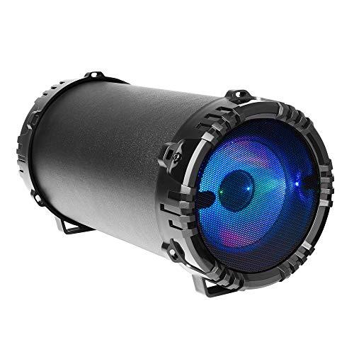 Mars Gaming MSB0 - Altavoz portátil Bluetooth de 10 W (USB, Micro SD, RGB Flow, Karaoke) Negro