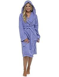 CityComfort Robe de Chambre pour Femmes en Coton éponge Peignoir de très Absorbant Capuche et châle Serviette de Bain Wrap