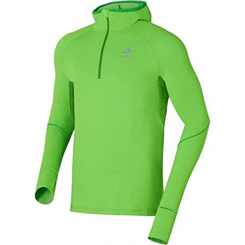 Odlo Herren Hoody Midlayer 1/2 Zip VISBIA Pullover, Green Flash, L 1/2 Zip Hoody