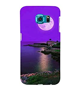 printtech Moonlight Nature Sea Back Case Cover for Samsung Galaxy S6::Samsung Galaxy S6 G920