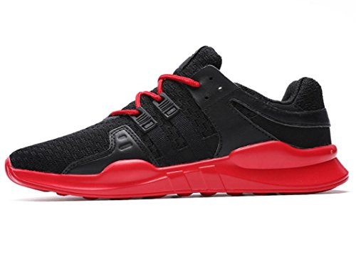 Iiiis-f Mujeres Running Sneakers Sports Running Running Sneakers Fitness Outdoor Casual Al Aire Libre Negro Rojo