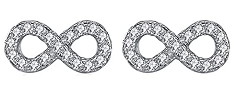 SaySure - 925 sterling silver earrings with Micro Pave CZ Crystal