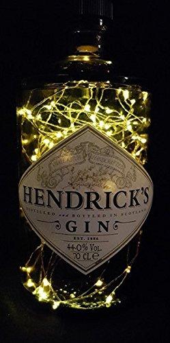 Hendrick´s Hendricks Gin - Flaschenlampe mit 80 LEDs Upcycling Geschenk Idee