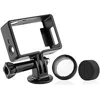 CamKix® Rahmenhalterung kompatibel mit GoPro Hero 4 Black und Silver, 3 und 3+ - USB, HDMI und SD-Steckplätze voll zugänglich - Leichtes und kompaktes Gehäuse für Ihre Kamera