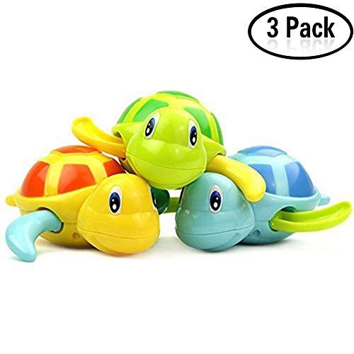 Yojoloin Baby Bade Bad Schwimmen Badewanne Pool Spielzeug Nette Wind Up Schildkröte Tier Badespielzeug Set für Kinder (3 PCS, 3 Farbe)