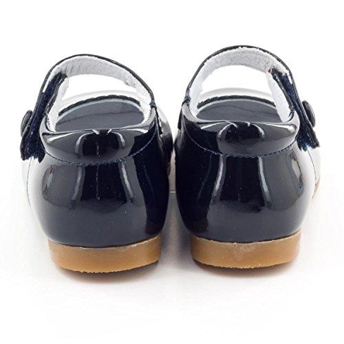 Boni Princesse II - Chaussure fille premiers pas Vernis Bleu
