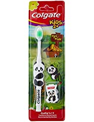 Colgate Kids 2 Toothbrush with Cut and Play with Hygiene Caps (Assorted Design)