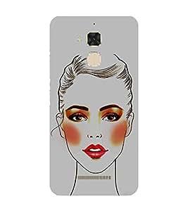 Beautiful Girl 3D Hard Polycarbonate Designer Back Case Cover for Asus Zenfone 3 Max ZC520TL