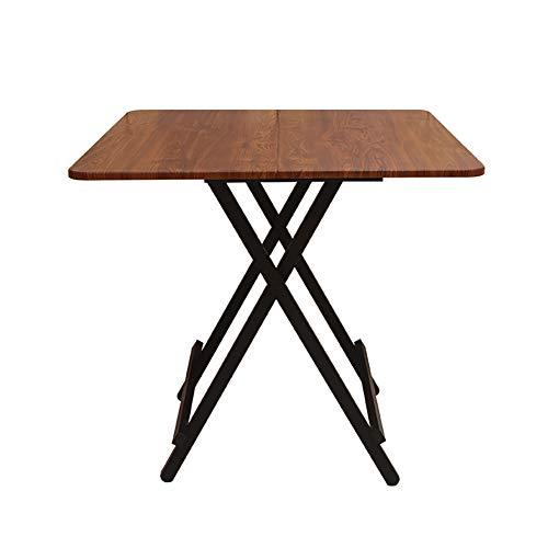 YXX Table à Manger Pliante en Bois avec Pieds en Acier, Petit Bureau à thé et à café pour Le Salon et Le Bureau (Couleur : #3, Taille : 80x80x74cm)