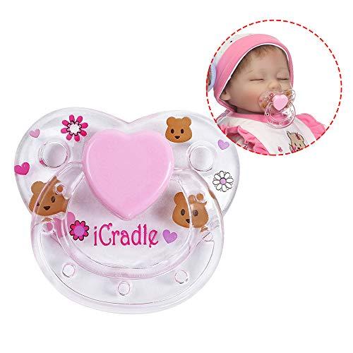 Godyluck Reborn Doll Supplies Imán Chupete Reborns Baby Dolls Accesorios Color Aleatorio, Navidad o Regalos de cumpleaños (1 PC)