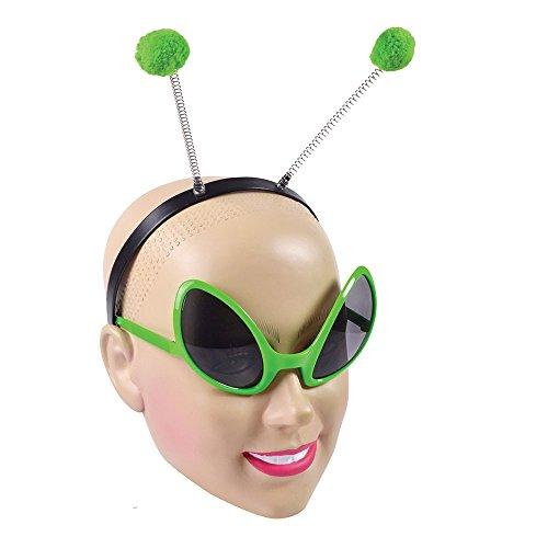 Bristol Novelty DS160Alien-Kostümzubehör-Set mit Brille und Haarreif, für -