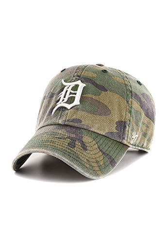47Brand Clean Up Adjustable Cap Detroit Tigers B-CARGW09GWSNL-CMC Camouflage, Size:ONE Size