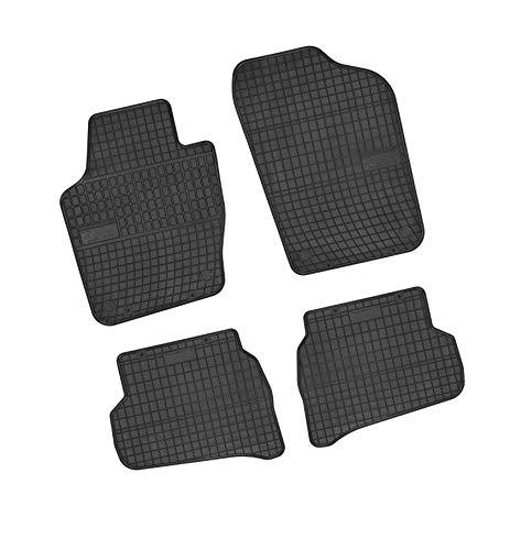 Bär-AfC VW04302 Gummimatten Auto Fußmatten Schwarz, Erhöhter Rand, Set 4-teilig, Passgenau für Modell Siehe Details