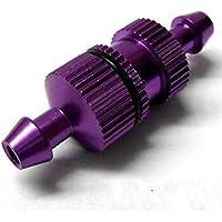 L11504 1/10 Escala R/C RC Motor Nitro Pequeño En línea Aleación Petróleo Filtro Combustible Lila