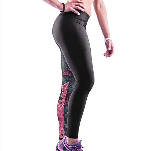 Jiayiqi Femme Séduisante Imprimé Graphique Extensible Sans Pied Legging Chic Collants Lion
