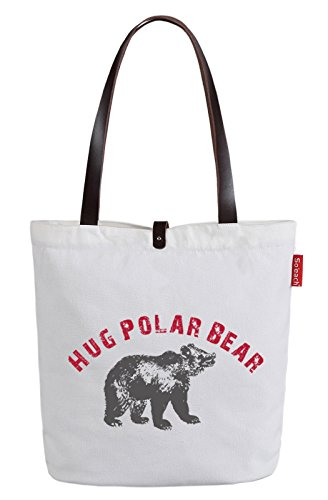 soeach-womens-polar-bear-letters-graphic-top-handle-canvas-tote-shoulder-bag