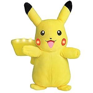 Bandai-Peluche sonoro y Luminosa Pokémon, 82791,