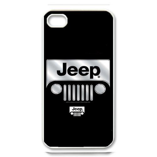 iPhone 4/4S white Phone Case Top Design Jeep Wrangler Logo JP300139
