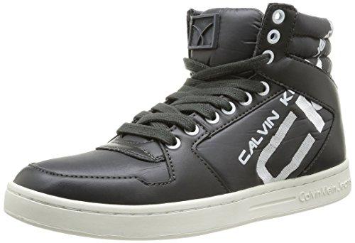 Calvin Klein Jeans Perico Shiny Nylon Smooth, Chaussures de boxe homme Gris (Dark grey)