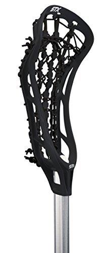STX Lacrosse Women's EXULT 300 Complete Stick Black Head and Runway Pocket on STX 7075 Handle by STX