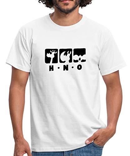 Spreadshirt Ralph Ruthe HNO Team Giraffe Nashorn Maus Männer T-Shirt, L, Weiß (Von Mäusen Männer)