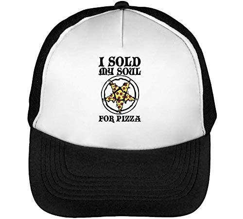 Imagen de i sold my soul pizza cool  hombre snapback beisbol negro blanco