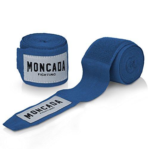 Boxbandagen mit Daumenschlaufe von Moncada Fighting ® (4m) Halb-Elastische Boxbandagen mit extra breitem Klettverschluss Abbildung 2